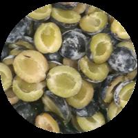 Plum halves (Variety Cabardinka)